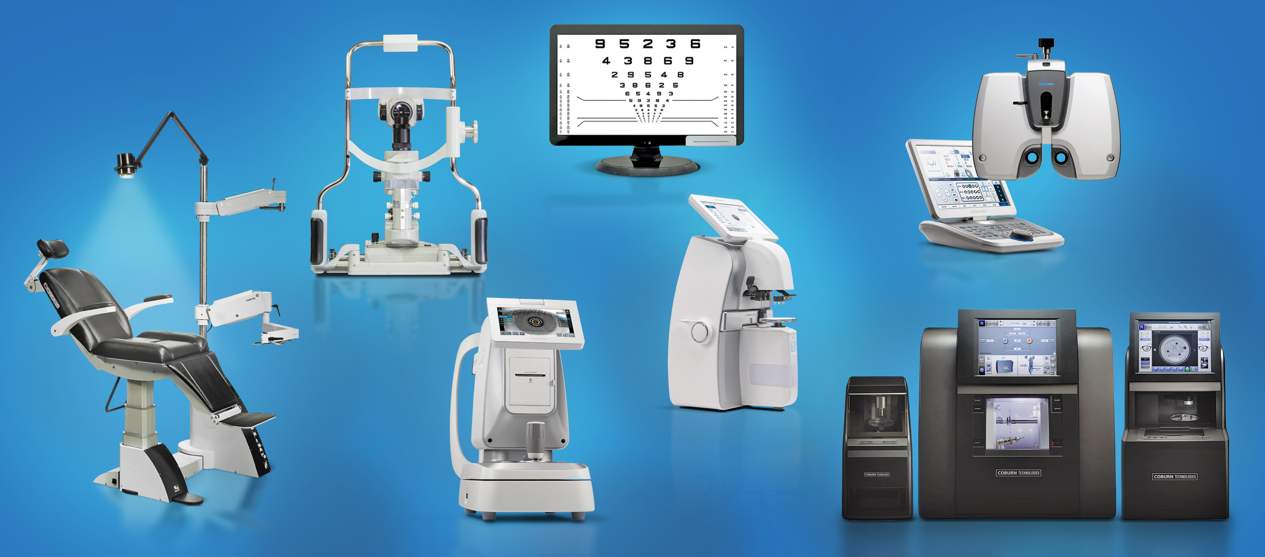Assorted images of exam equipment available through the camber rewards Free Equipment Event